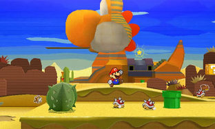 Even Distant Yoshi Sphinx Is Made Of Paper Pretty Much All The NPCs In This Game Are Toads Who Can Be Found Almost Anywhere But Mostly Decalburg